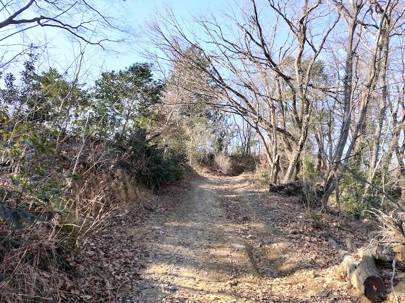 緩やかな道を歩く秋川丘陵