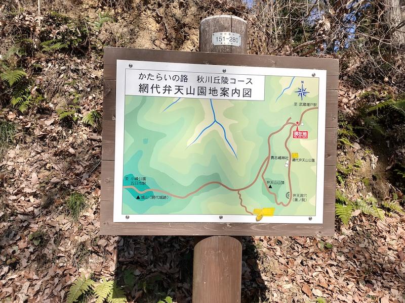 網代弁天山コースマップ