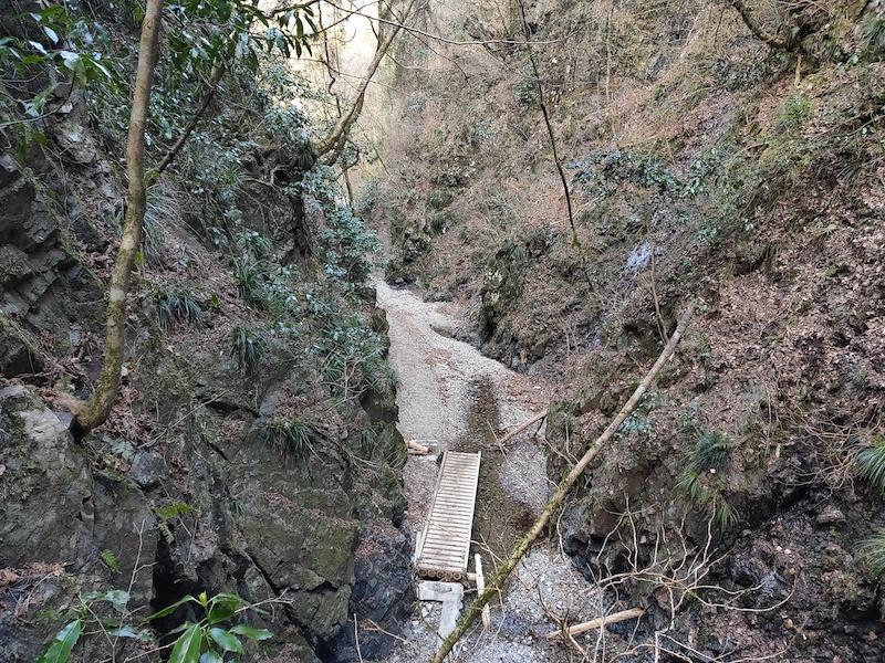 金剛の滝上部から見下ろす