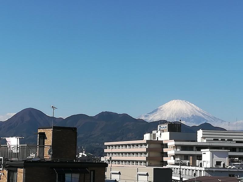 松田駅から富士山
