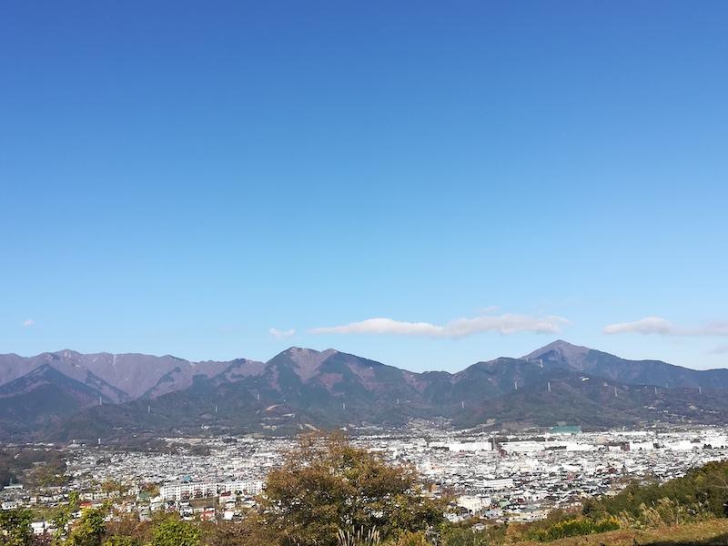 渋沢丘陵から丹沢山系