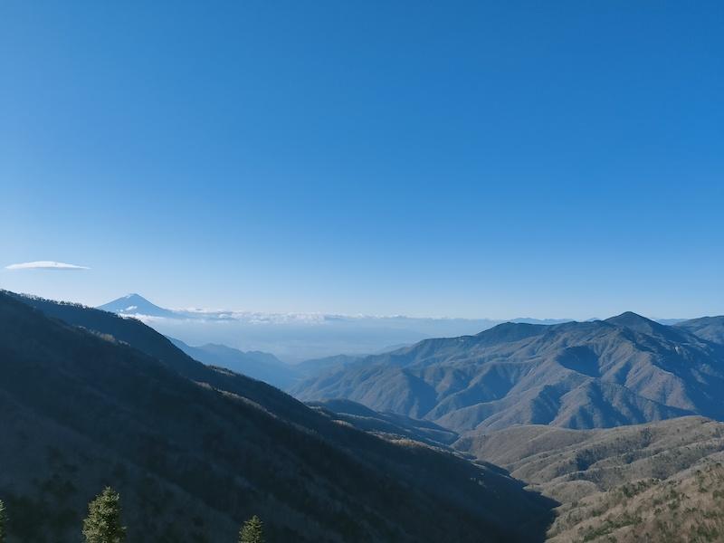 雁坂峠からの景色