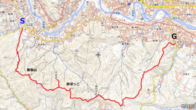 長淵丘陵コースマップ