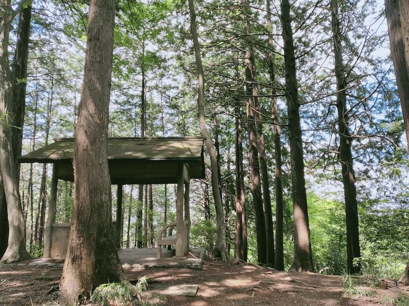 長淵丘陵の休憩所