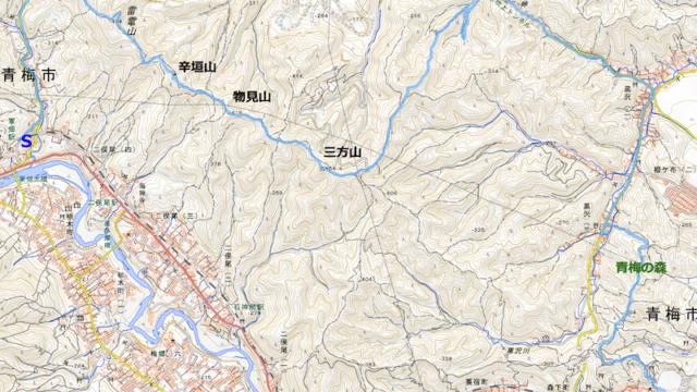 青梅丘陵コースマップ