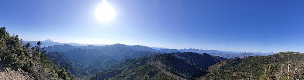 甲武信ヶ岳からの眺望