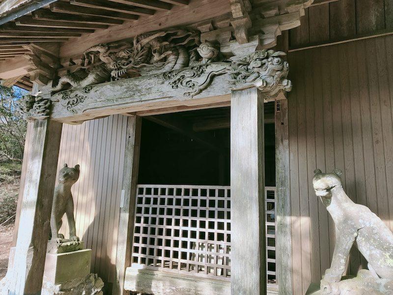 両神神社から少し歩いたところに御嶽神社